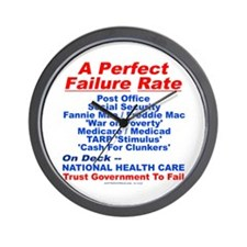 Perfect Failure Wall Clock