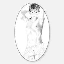 Boi in Boxers Oval Decal