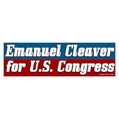 Emanuel Cleaver for Congress bumper sticker