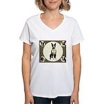 Boston Terriers Women's V-Neck T-Shirt