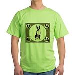 Boston Terriers Green T-Shirt