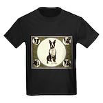 Boston Terriers Kids Dark T-Shirt