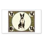 Boston Terriers Rectangle Sticker