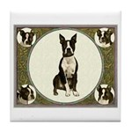 Boston Terriers Tile Coaster