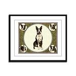 Boston Terriers Framed Panel Print