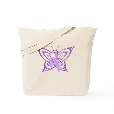 Alzheimer's Awareness Butterfly Tote Bag