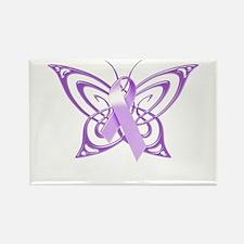 Alzheimer's Awareness Butterfly Rectangle Magnet