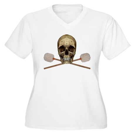 Bass Drum Pirate Women's Plus Size V-Neck T-Shirt