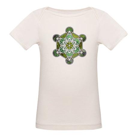 Green Metatron's Cube Organic Baby T-Shirt