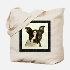 Boston Terrier Kiss Tote Bag