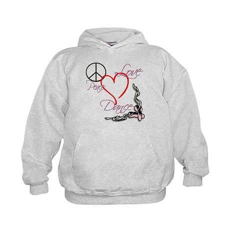 Peace Love Dance Kids Hoodie