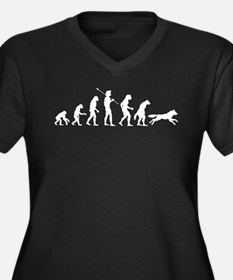 Werewolf Evolution Women's Plus Size V-Neck Dark T