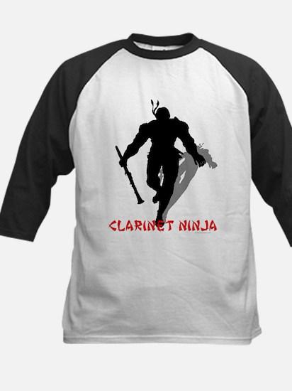 BandNerd.com: Clarinet Ninja Kids Baseball Jersey