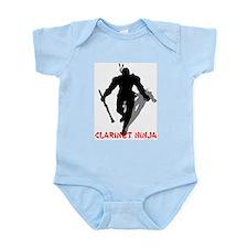 BandNerd.com: Clarinet Ninja Infant Bodysuit