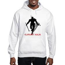 BandNerd.com: Clarinet Ninja Hoodie Sweatshirt