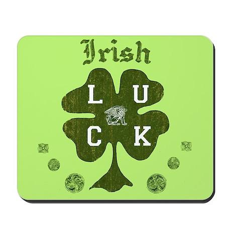 Irish Four Leaf Clover Mousepad