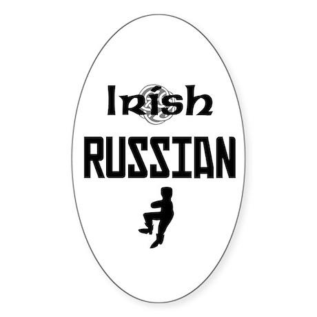 Irish Russian Oval Sticker