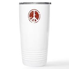 Red Peace Symbol Travel Mug