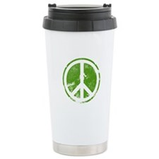 Green Peace Symbol Travel Mug