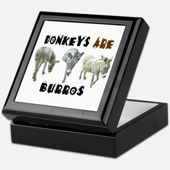 Donkeys ARE Burros Keepsake Box