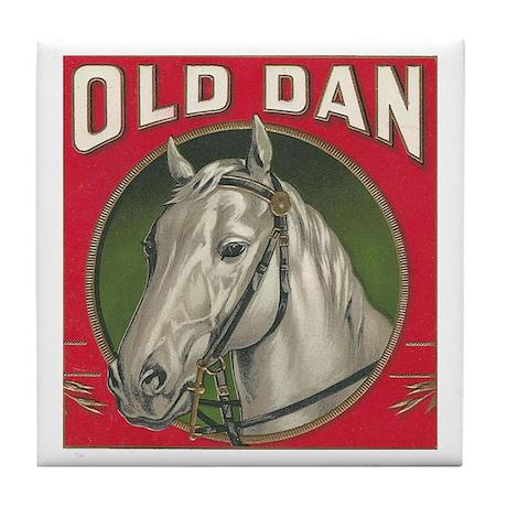 Old Dan Horse Vintage Art Tile Coaster