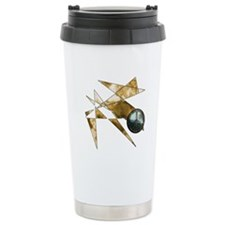 Earth Tone Abstract Peace Sym Travel Mug