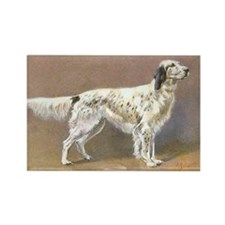 English Setter Vintage Art Rectangle Magnet