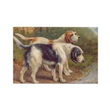 Otterhound Dog Vintage Art Rectangle Magnet
