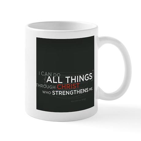 Philippians 4:13 Scripture Art Mug