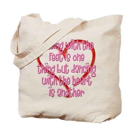 Dancing with Heart and Feet Tote Bag