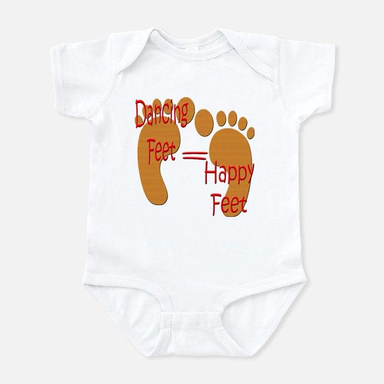 Dancing Feet are Happy Infant Bodysuit