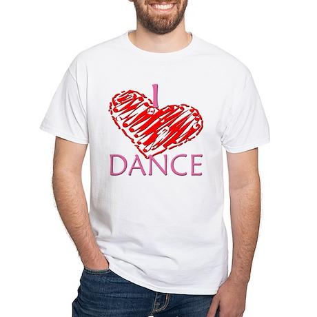 I heart/love Dance White T-Shirt
