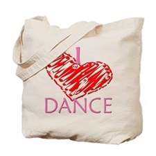 I heart/love Dance Tote Bag