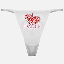 I heart/love Dance Classic Thong