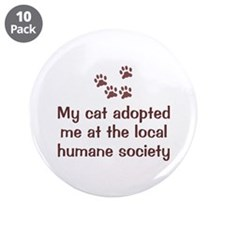 """Cat Adopted Me 3.5"""" Button (10 pack)"""