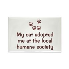Cat Adopted Me Rectangle Magnet (10 pack)
