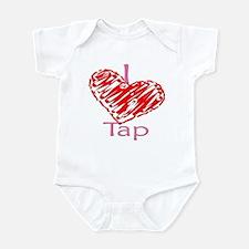 I heart/Love Tap Infant Bodysuit
