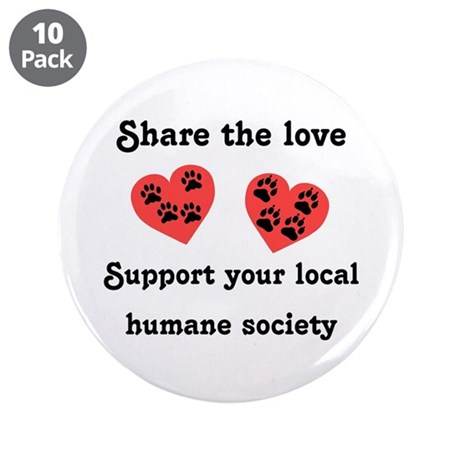 """Share The Love 3.5"""" Button (10 pack)"""