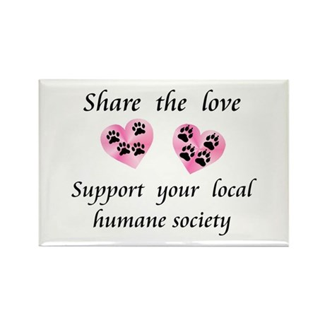Share The Love Rectangle Magnet (10 pack)