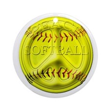 Softball peace Ornament (Round)