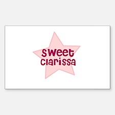 Sweet Clarissa Rectangle Decal