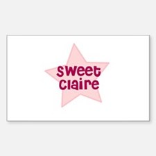 Sweet Claire Rectangle Decal