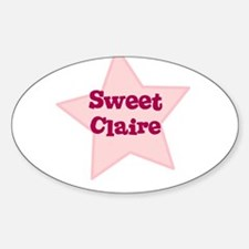 Sweet Claire Oval Decal