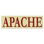 Apache Tribe Bumper Sticker (10 pk)