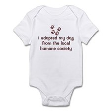 Adopted My Dog Infant Bodysuit