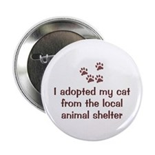 """Adopted My Cat 2.25"""" Button (10 pack)"""