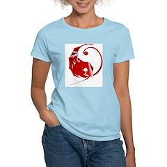 Red Dragon Women's Pink T-Shirt