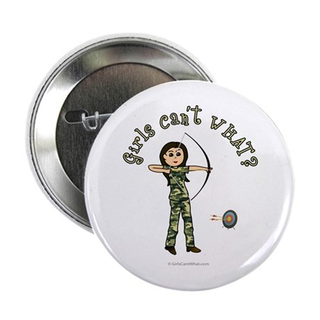 "Light Camouflage Archery 2.25"" Button"