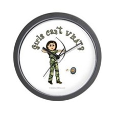 Light Camouflage Archery Wall Clock