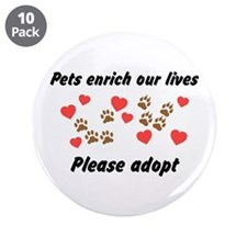 "Please Adopt 3.5"" Button (10 pack)"